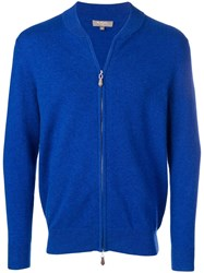 N.Peal Knitted Bomber Jacket Blue