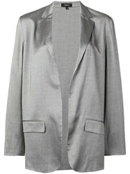 Theory Classic Open Front Blazer Grey