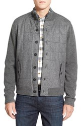 Men's Brooks Brothers Quilted Front Sweater Jacket
