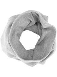 11 By Boris Bidjan Saberi Embroidered Asymmetric Scarf Grey