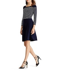 Ralph Lauren Striped Dress Lighthouse Navy Lauren White