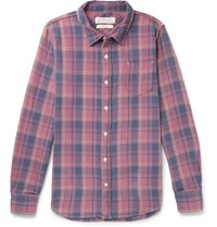 Remi Relief Checked Cotton Flannel Shirt Pink