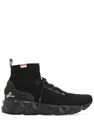 Emporio Armani Lvr Edition 3D Knit Sock Sneakers Black