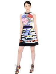 Mary Katrantzou Printed Silk And Cotton Jacquard Dress