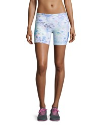 Alo Yoga Burn Printed Performance Shorts Floral Glo