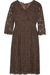 Dolce And Gabbana Corded Lace Dress Chocolate