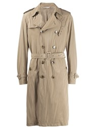 Valentino Double Breasted Trench Coat Neutrals