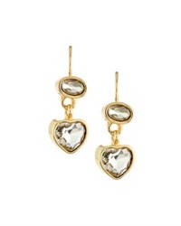 Emily And Ashley Crystal Heart Dangle Earrings Clear