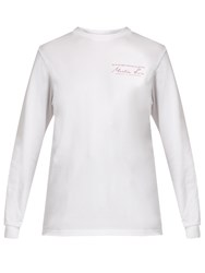 Martine Rose Long Sleeved Cotton Jersey T Shirt White