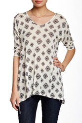 Hip Aztec Print Tee Juniors Black