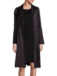 Eileen Fisher Satin Shawl Collar Coat Black