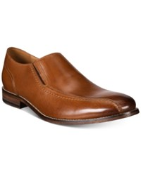 Bostonian Men's Ensboro Step Apron Toe Loafers Men's Shoes Brown Leather