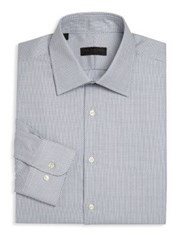 Ike Behar Geometric Regular Fit Dress Shirt Blue