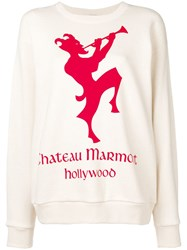 Gucci Sweatshirt With Chateau Marmont Print Neutrals