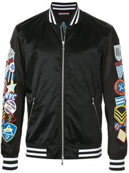 Guild Prime Badge Sleeve Bomber Jacket Black