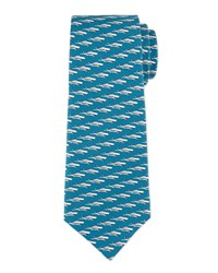 Boats Silk Tie Cool Water Men's Davidoff