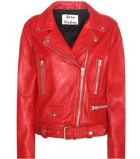 Acne Studios Mock Leather Jacket Red