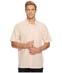 Quiksilver Waterman Centinela 4 Short Sleeve Shirt Dusty Coral T Shirt White