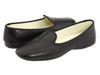 Daniel Green Meg Black Leather Women's Slippers
