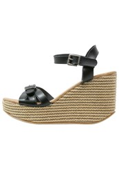 Blowfish Drivein Wedge Sandals Black Natural