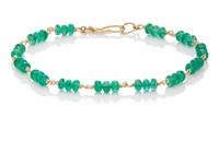 Dean Harris Men's Emerald Beaded Bracelet Green