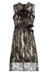 Preen By Thornton Bregazzi Lace Lame Dress Black