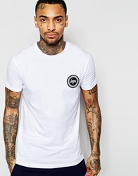 Hype T Shirt With Crest Logo White