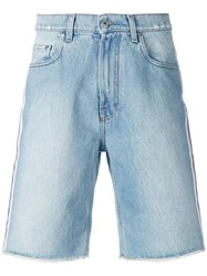 Msgm Denim Shorts Blue
