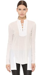 Thakoon Lace Front Top White