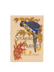 Olympia Le Tan The Speaking Parrots Embroidered Canvas Clutch Beige Multi