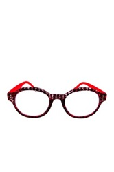 Women's Red Circular Logic Readers