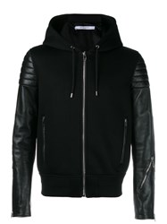 Givenchy Leather Hoodie Jacket Black