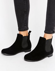 Truffle Collection Flat Chelsea Boot Black Micro