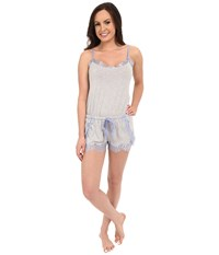 P.J. Salvage Lace Trim Romper Heather Grey Women's Jumpsuit And Rompers One Piece Gray