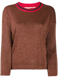 Bellerose Contrast Collar Sweater Brown