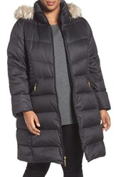 Ellen Tracy Plus Size Women's Faux Fur Trim Down Coat