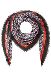 Mary Katrantzou Printed Scarf With Cashmere Multicolor
