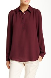 14Th And Union Henley Blouse Red