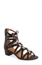 Women's Corso Como 'Jamaica' Lace Up Sandal Black Sporty Goat