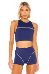 Adam Selman Racer Crop Top Blue