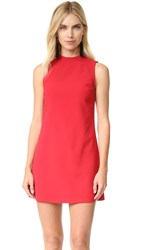 Alice Olivia Coley Mock Neck Dress Ruby