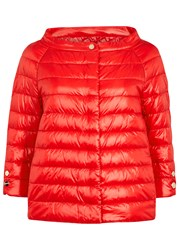 Herno Red Quilted Shell Jacket