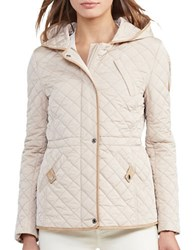 Lauren Ralph Lauren Quilted Hooded Coat Cream