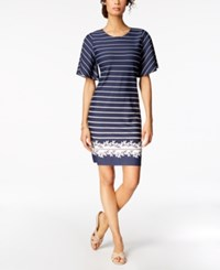 Charter Club Petite Flutter Sleeve Shift Dress Created For Macy's Intrepid Blue