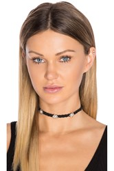 Rebecca Minkoff Braided Leather Choker Black