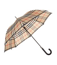Burberry Shoes And Accessories Heritage Check Walking Umbrella Female Camel