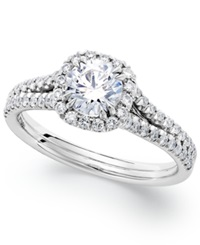 Macy's Platinum Certified Diamond Halo Engagement Ring 1 Ct. T.W.