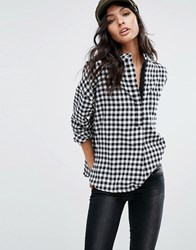 Mango Gingham Smock Shirt Multi