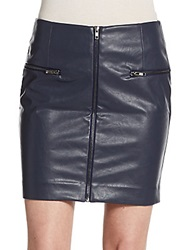 Romeo And Juliet Couture Faux Leather Miniskirt Navy