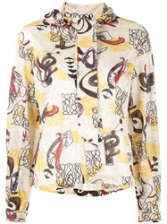 Toga Pulla Graphic Print Shirt White
